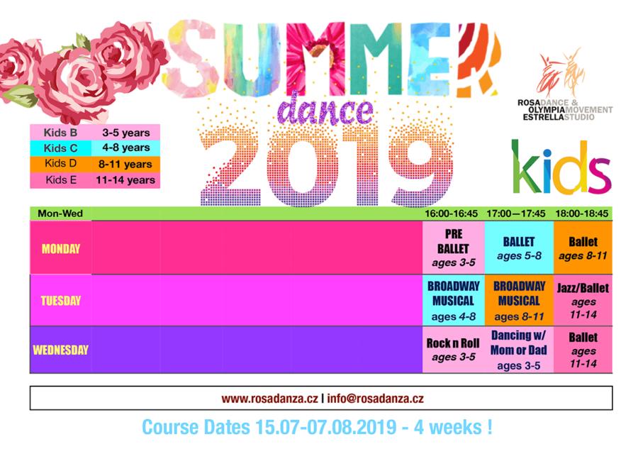 Kids Summer Schedule 2019