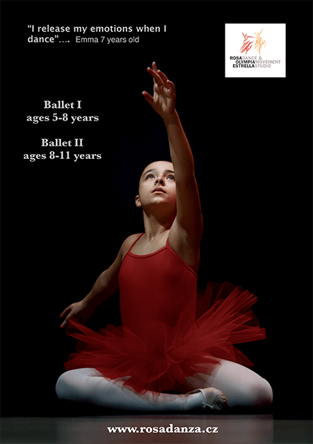 Poster for Ballet course ages 5 to 8 and 8 to 11
