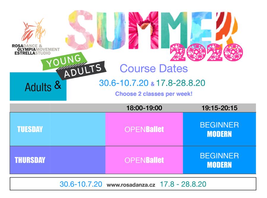 Adult Summer Schedule 2020
