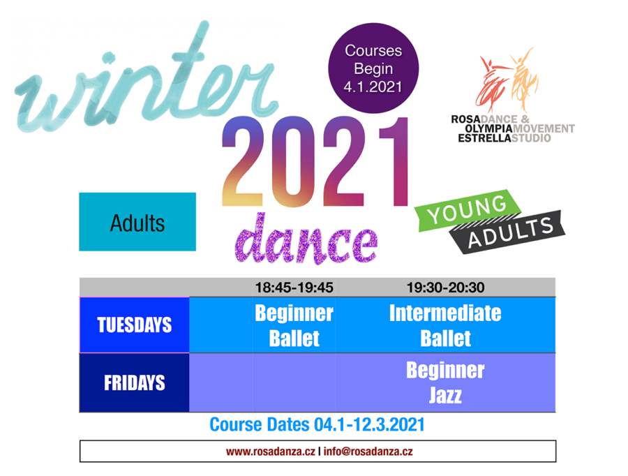 Winter 2021 ADULTS Schedule