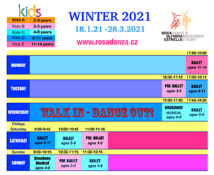 Kids Winter 2021 Schedule
